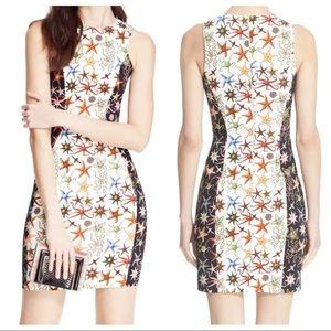 VERSACE COLLECTION Starfish Print Sheath Dress